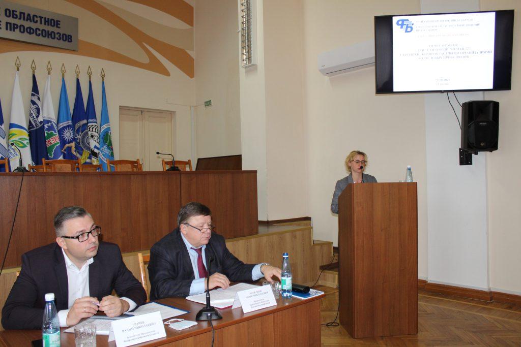 На заседании Президиума Совета областного объединения профсоюзов рассмотрели, как выполняются решения III-го и IV-го Пленумов Совета ФПБ